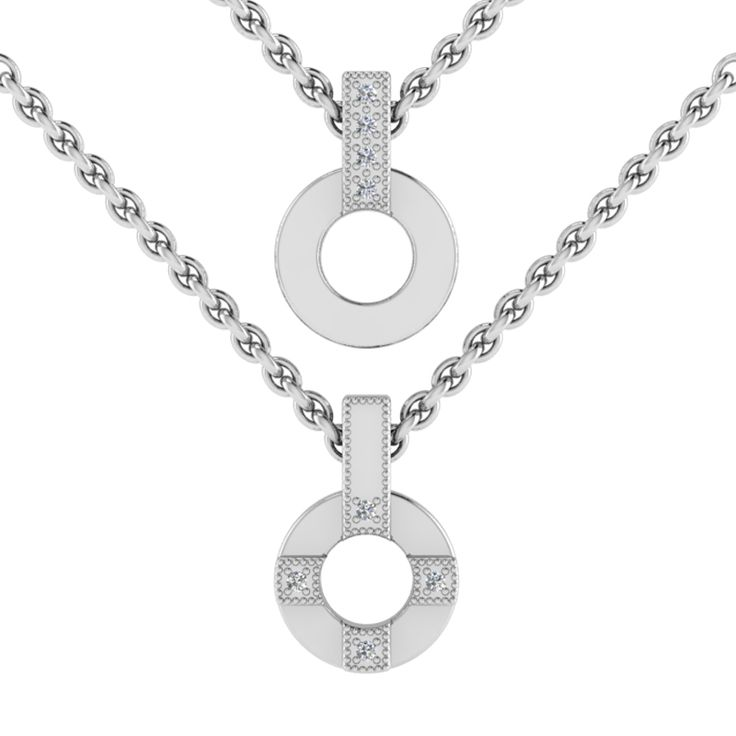 Silver Diamond Pendant And Chain. R2000 Product Code- WN00015