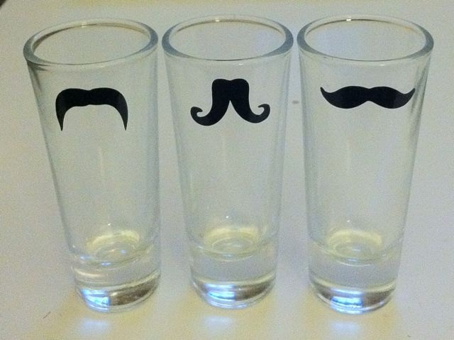 Mustache Shot glasses by SeaSideSandys: Wedding Parties Gifts