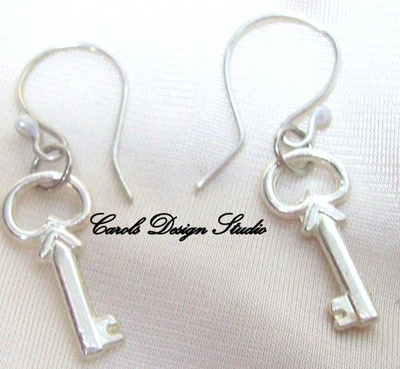Key to My Heart dangling from a handmade ear wire is lovely #bestofEtsy #etsy #handmade #design #gifts
