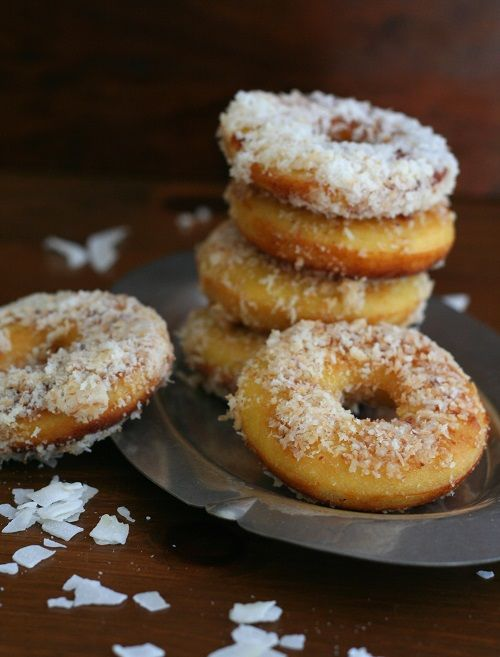 Low Carb Gluten-Free Fried Coconut Flour Donuts @Carolyn Ketchum