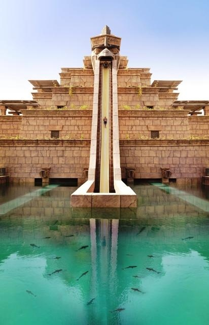Aquaventure at The Atlantis, for some reason is also called waterpark. The most challenging slide there os called leap of faith as shown on the above picture. Must try if you are up to pump your adrenaline.