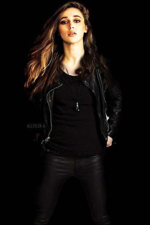 Alycia in leather