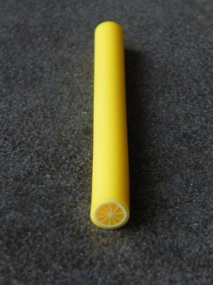 Cane fimo pâte polymère citron 5cm : Pâtes polymères et accessoires par jl-bijoux-creation