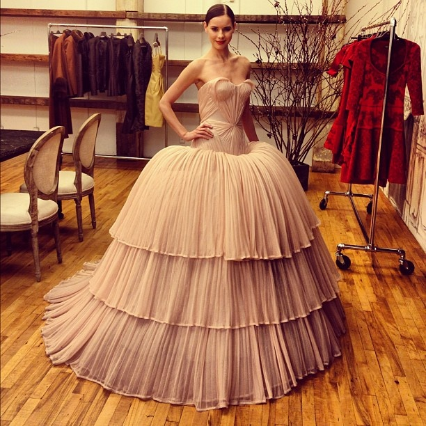Breathtaking gowns at Zac Posen Pre Fall 2013