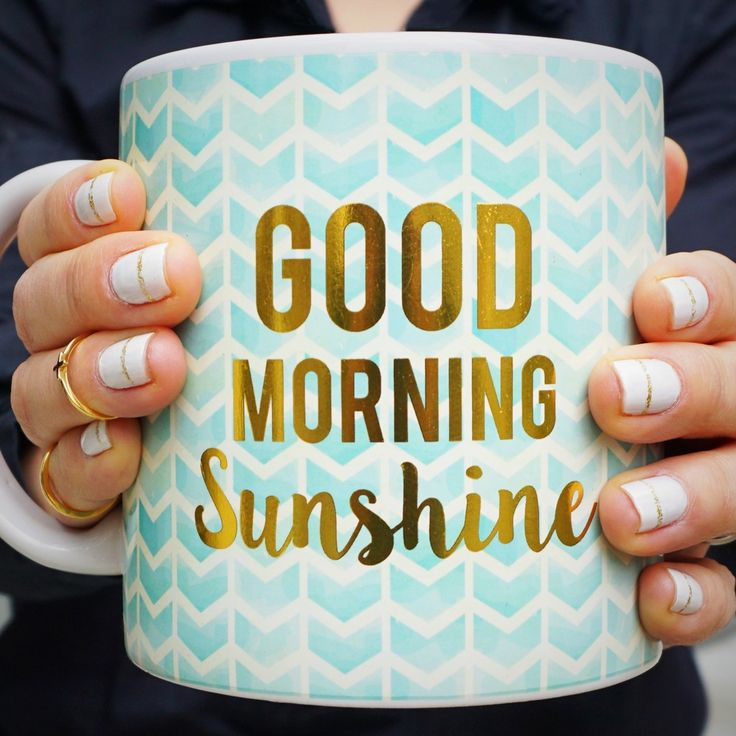 Good morning sunshine coffee mug.