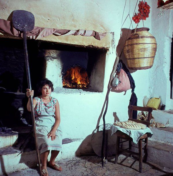 Oven in the house,Crete,1968.  © Konrad Helbig.