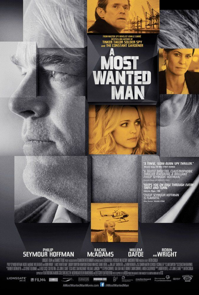 A Most Wanted Man (2014) ... An escaped militant's (Grigoriy Dobrygin) attempting to claim an inheritance, gives a German agent (Philip Seymour Hoffman) the chance to lay a trap for a well-regarded Muslim scholar who is suspected of financing terrorists. (10-Jul-2016)