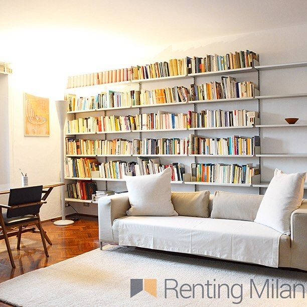Rent our special #portavenezia #penthouse with it's own #library ready to be explored by you - ask us about it #rentingmilan