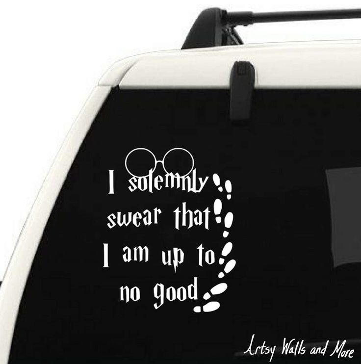 I solemnly swear i am up to no good harry potter car vinyl decal sticker quote yeti cup vinyl decal