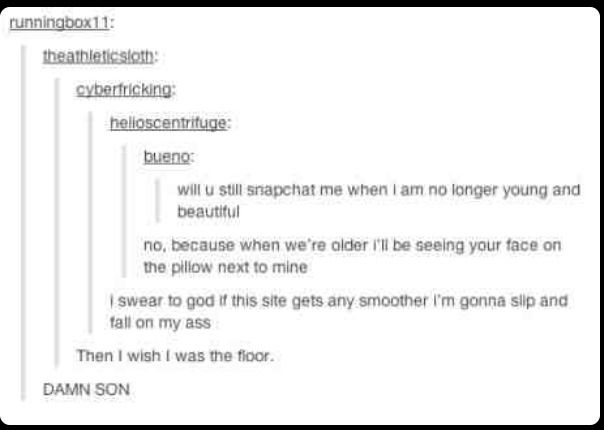 Smooth pick up lines, tumblr got game