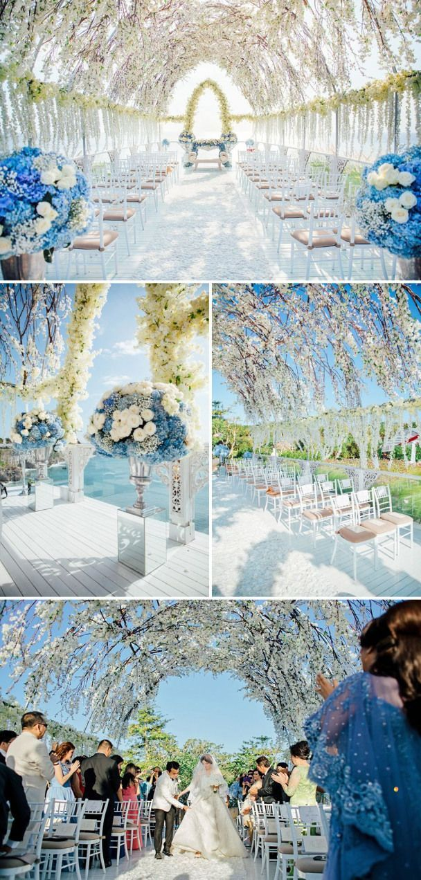 Anthony and Shella's magical blue and white seaview wedding // Luxurious Wedding…,  #Anthon…