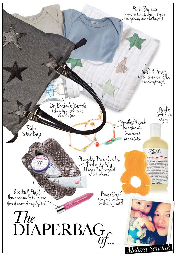 The Diaperbag of... #mommy Melissa Senduk (Monday March) - Pret a Pregnant