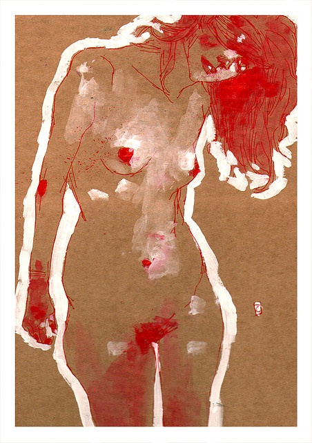 EgonSchiele style by Conrad Roset