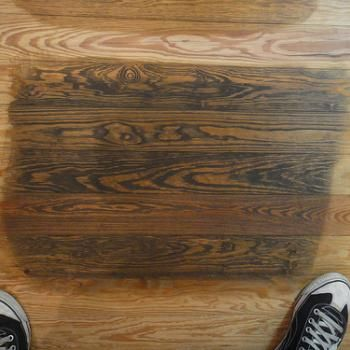 Removing water stains from unfinished wood can be a challenge. There are many sources of water stains on unfinished wood surfaces. Although they often appear more permanent than those on finished wood, they are often easily removed using table salt and in some cases an iron.   Page 1
