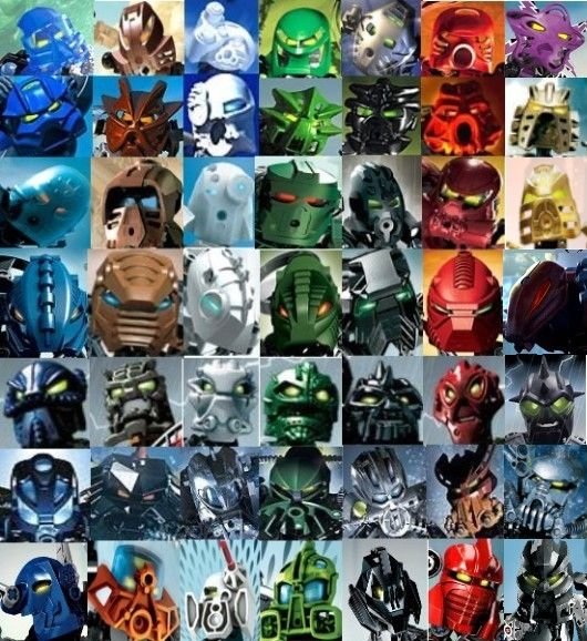 Bionicle: All toa from sets (Toa-fullmetal, 2013)