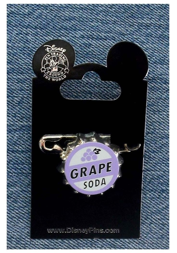 Disney Pin 79373: Disney-Pixar's Up - Ellie Badge Grape Soda