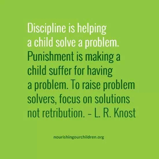 MIND BLOWING......especially taking into account the concept of discipline from the child's perspective......