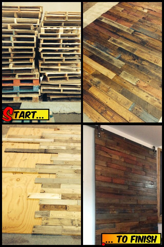 Completed sliding pallet wood door project