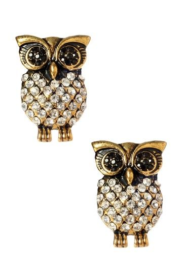 Stud Owl Earrings