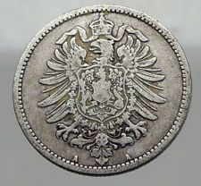 1885 A  WILHELM I of GERMANY  1 Mark  German Empire Silver Coin Eagle i62962 http://lukebadcoe.blogspot.com/2017/09/1885-wilhelm-i-of-germany-1-mark-german_53.html