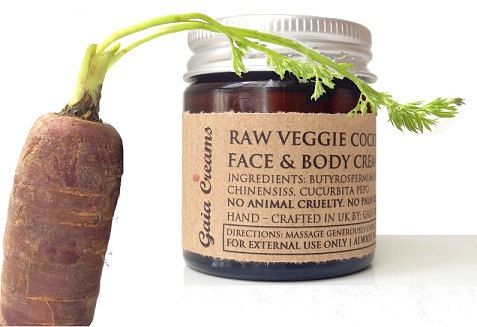RAW VEGGIE COCKTAIL Moisturiser. Every day Face and Body Cream .Organic, Raw, Vegan, Ethical, Toxin- and Cruelty Free 30ml