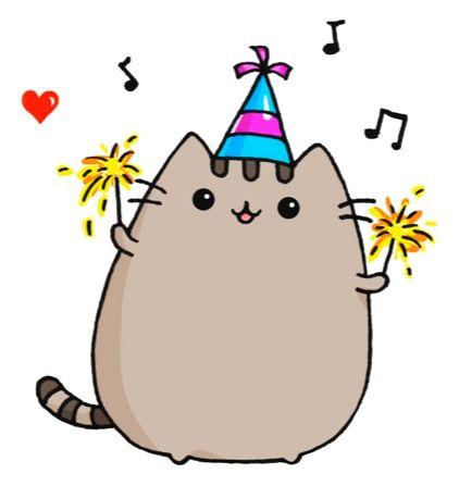 Pusheen Cat for New Years