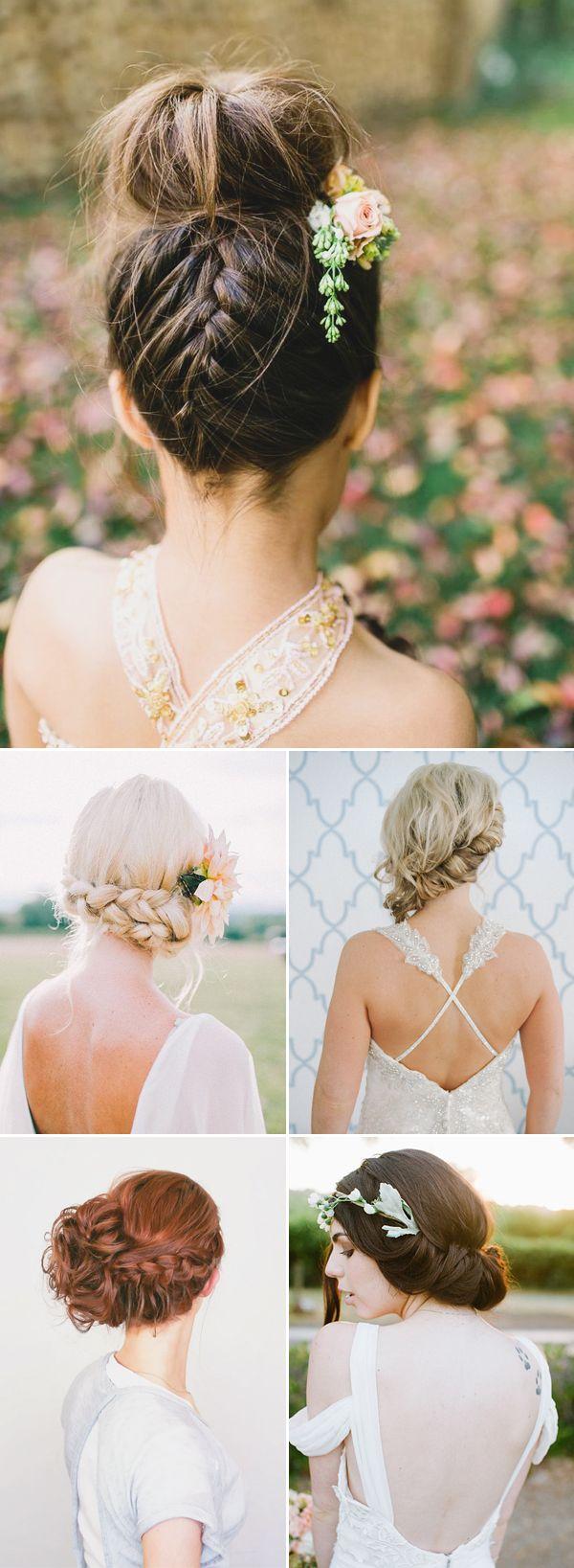 Oh So Romantic! 20 Natural Bohemian Bridal Hairstyles - Boho Updo