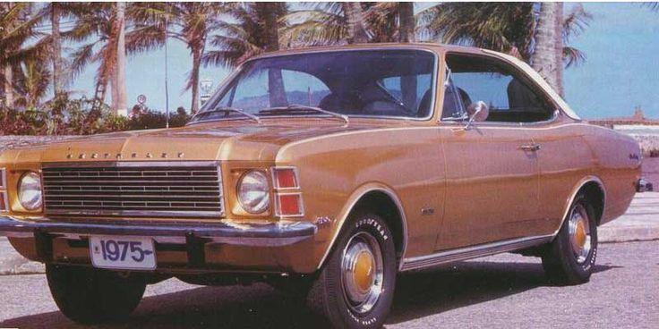 """chevrolet opala 1975 - Opala 4 cilindros:Duas versões do motor 4 cilindros equiparam o Opala, ambas com 2.5 litros, tinha de início 75cv, considerado fraco para o tamanho do carro. Já a versão mais potente do motor 2.5, chegou ao mercado mais tarde em 1973, tinha cerca de 90cv.Em 1979 no auge do """"Proalcool"""", o  Opala 4 cilindros ganhou também uma versão a álcool, esta versão tinha como atrativo o melhor desempenho e consumo em comparação com a versão a gasolina."""