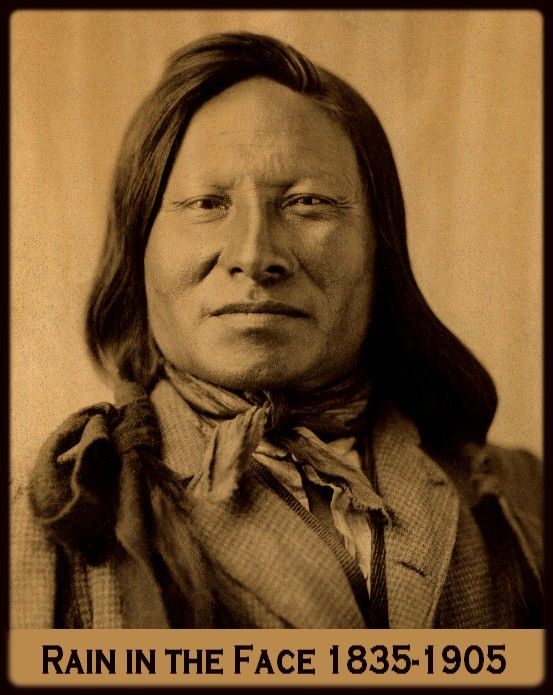 A great portrait of Rain-In-The-Face, a fearless Sioux Warrior.