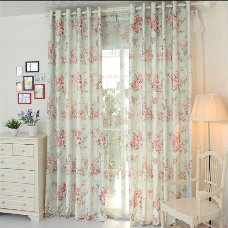 Flor de hilo cortina cortinas de tela de cortina de tela de moda de alta calidad cortina rústica tela de tul tul flores #30(China (Mainland))