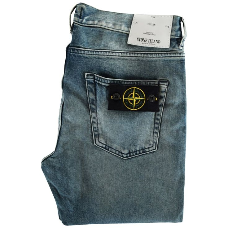 STONE ISLAND Light-Wash Skinny Fit Jeans