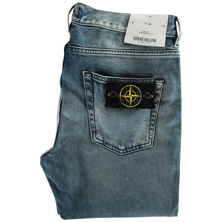 STONE ISLAND Light-Wash Skinny Fit Jeans