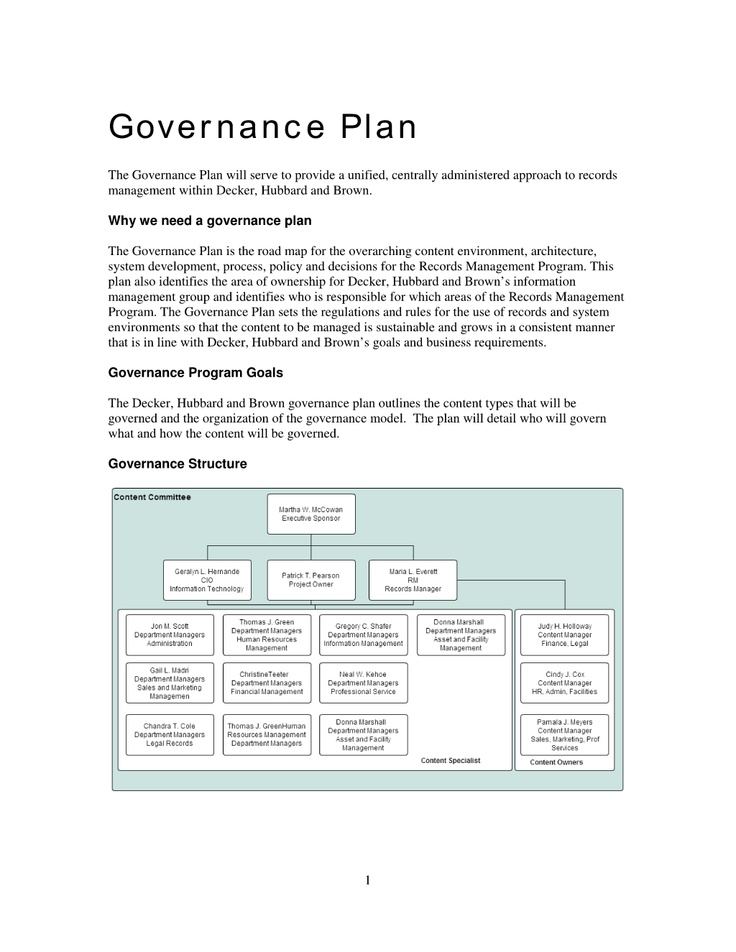 Governance plan pictures to pin on pinterest pinsdaddy for Records management policy template