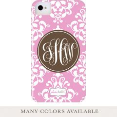 Clairebella Personalized Cell Phone Case Damask @ LaylaGrayce.com