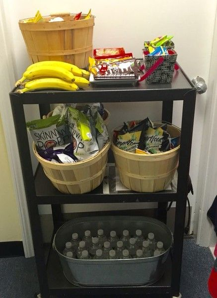 Make a snack cart - Thoughtful Teacher Appreciation Day Ideas That Won't Break the Bank - Photos