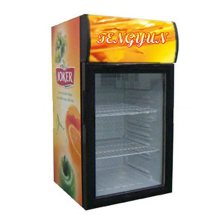 home appliances new products cold storage showcase glass door fridge mini freezer