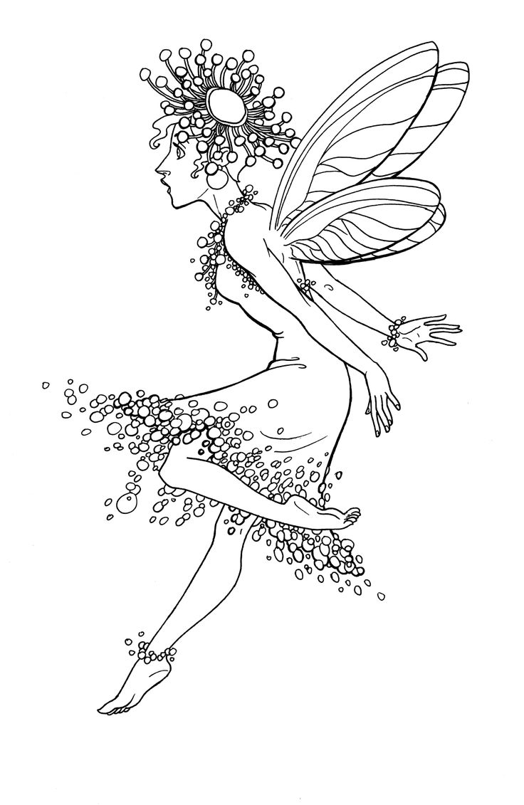 cute fairies coloring pages - photo#22