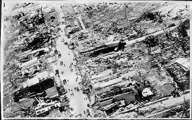 JUDSONIA, Arkansas, March 21, 1952 (F4 tornado). Arkansas is consistently one of the most tornado-prone states. A 1952 Southern states outbreak produced an amazing 11 F4s in 24 hours, including a ferocious one that flattened the town of Judsonia (pictured), killing 30 there and 50 in all along its track. It was one of the three or four worst tornadoes in the state's history. (KevinR@Ky)