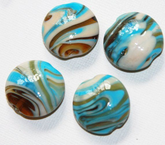Pin By Shelley Matthews On Marbles In 2020 Blue Stripes Round Beads Lampwork