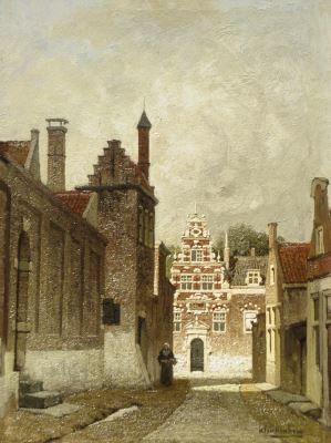 Johannes Christiaan Karel Klinkenberg (Den Haag 1852-1924) A city view in summer - Dutch Art Gallery Simonis and Buunk Ede, Netherlands.
