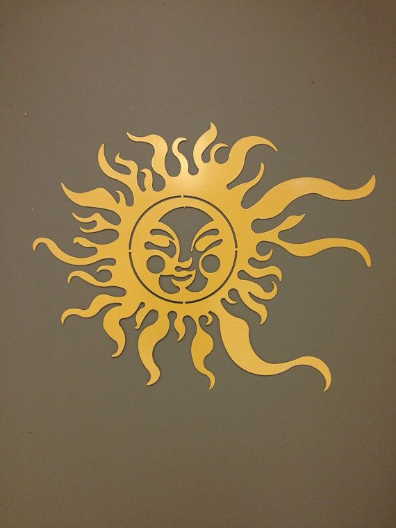 Summer Sun Metal Wall and Garden Art 36x24 by alkemymetal on Etsy