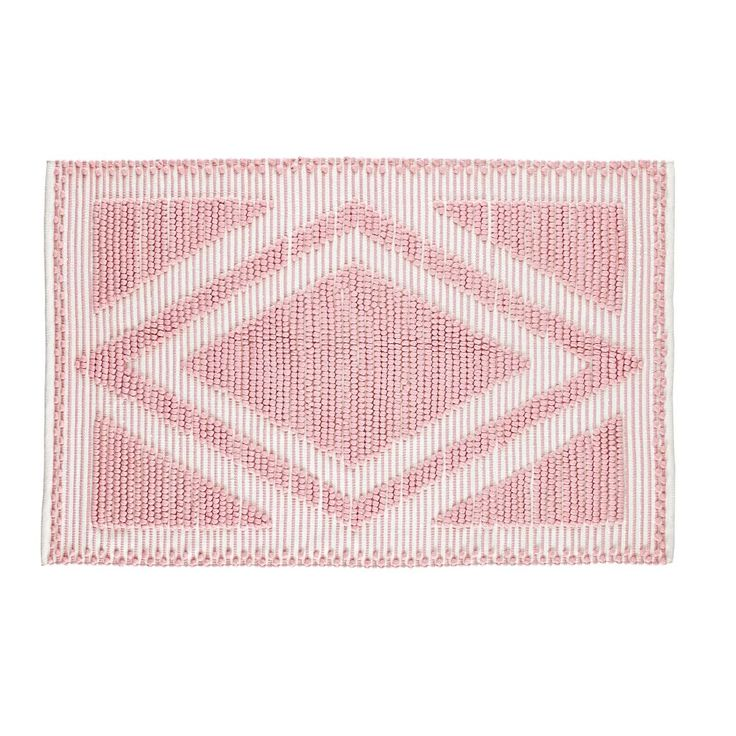 8 x 10' Diamond in the Rug (Pink) | The Land of Nod