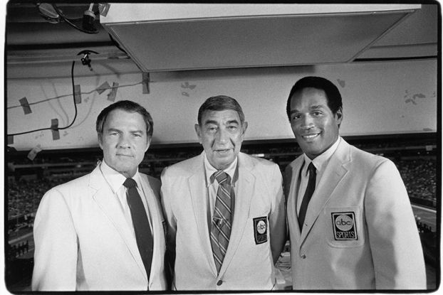 Gifford, Cosell and Simpson, Monday Night Football announcers