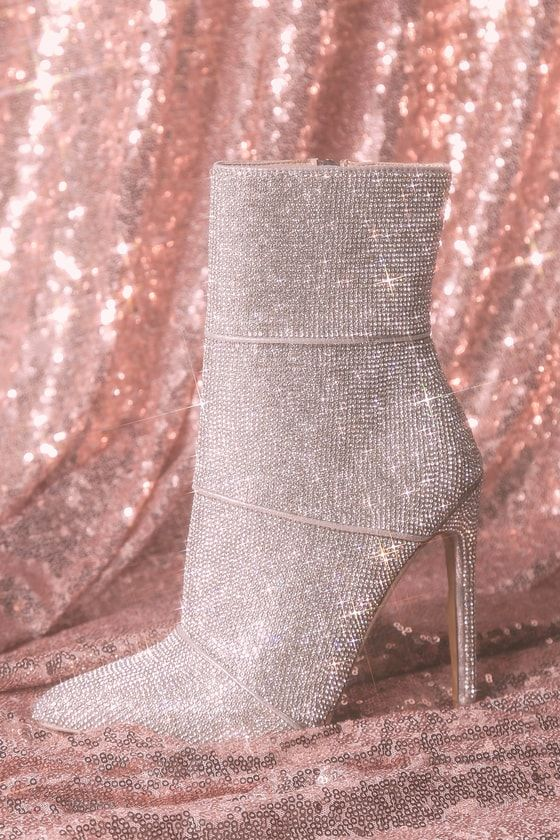 3c44f617234 The Steve Madden Winona Rhinestone Mid-Calf Booties are one-step stunners!  Sparkling rhinestones and silver banded detail deck out these head-turning  ...