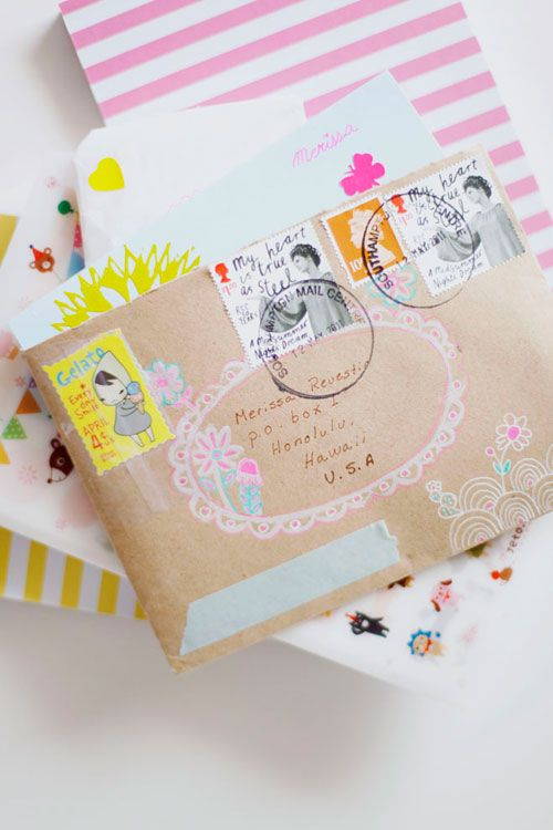 Beautiful snail mail by Ishtar Olivera