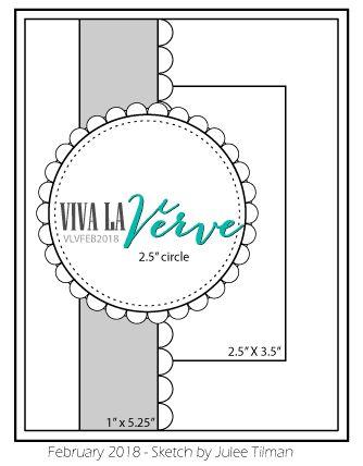 Viva la Verve February Card Sketch designed by Julee Tilman. #vervestamps #vivalaverve #vlvsketches #sketchchallenge #cardchallenge