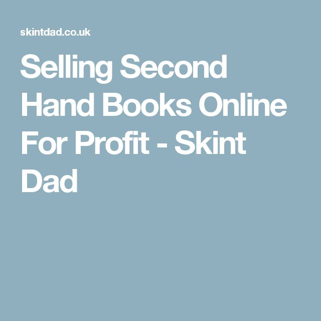 Selling Second Hand Books Online For Profit - Skint Dad