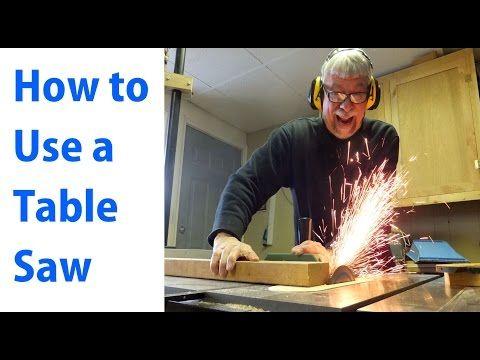 So verwenden Sie eine Tischkreissäge: Holzbearbeitung für Anfänger # 1