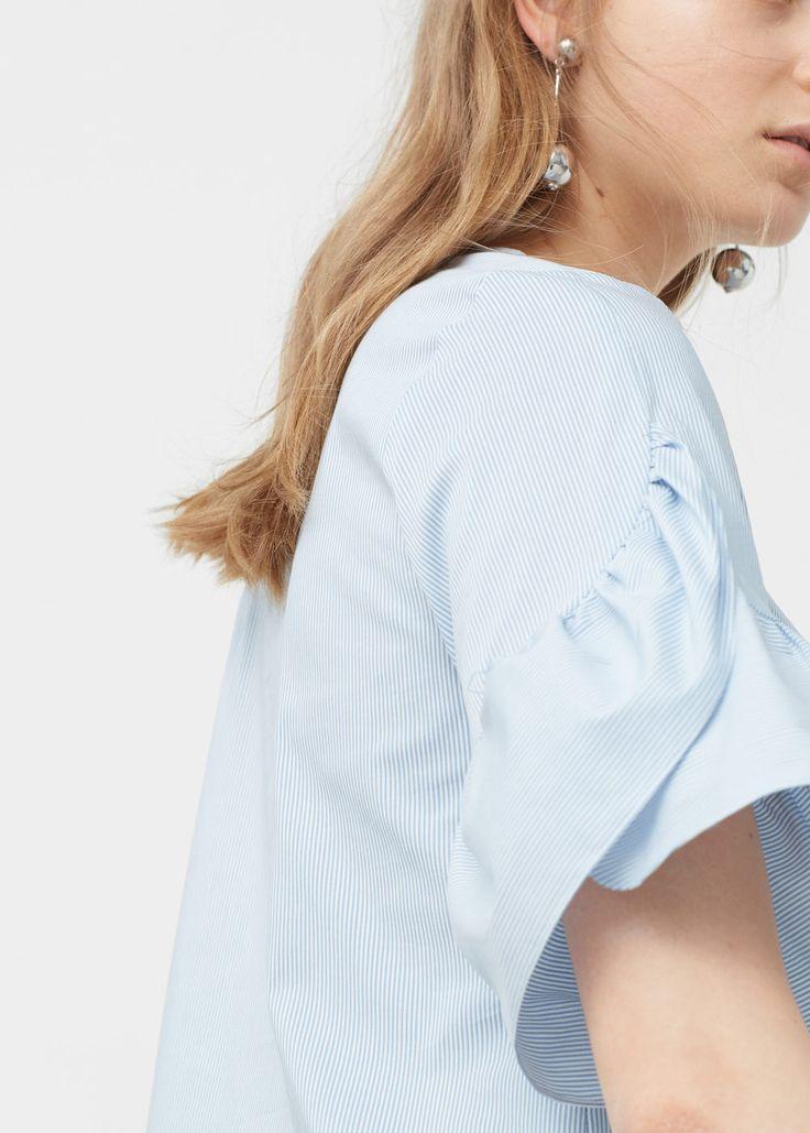 Blusa de popeline | MANGO