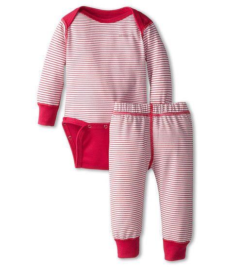 Patagonia Kids Baby Capilene® 3 Midweight Set (Infant/Toddler) Pico Stripe/ Birch White/Radiant Magenta - 6pm.com
